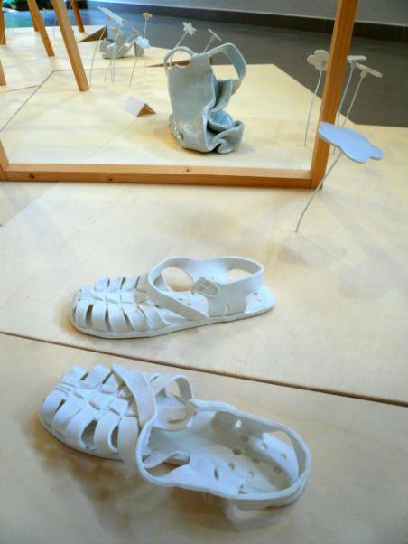 chaussure en porcelaine exposition